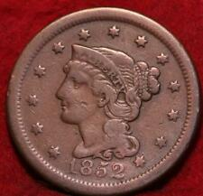 1852 Philadelphia Mint Copper Braided Hair Large Cent