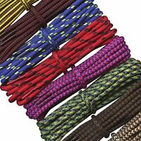 Round Work Boot Laces 4 mm Shoe Laces for Walking, Hiking boots, CAT, Timberland