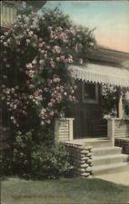 Monrovia CA Typical Home Porch c1910 Postcard