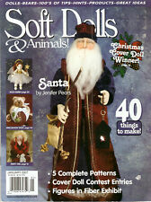 techniques tips magazine SOFT DOLLS /& ANIMALS May 2007 cloth doll patterns