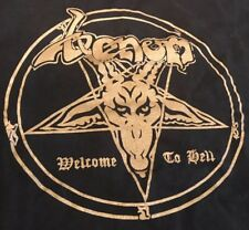 Venom Welcome To Hell Shirt L M Gold Black Metal Motorhead Discharge EUC Sodom
