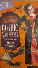Halloween Gothic Vampiress Dress Age 9-10 Child up to 140cm High Freepost