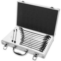 12pc Duo RATCHET Wrench Set SAE Metric Ratcheting Wrenches Tool w/ Carrying Case