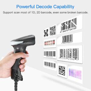 Eyoyo QR 1D-Barcode-Scanner Plug-and-Play-Handheld-Barcode-Leser für den Laden