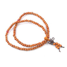 Hot Sandalwood Buddhist Buddha 6mm 108Pcs Prayer Beads Mala Bracelet/Necklace