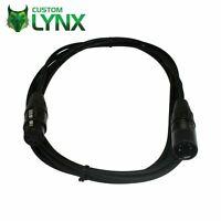 Rean Neutrik 10m 5 Pin DMX Cable. Lighting Lead. Male XLR to Female XLR. PRO