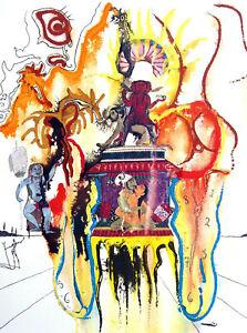 """Salvador Dali 1904 / """" Mystic """"/ Lithographie, handsigniert / Limitiert / 1973"""