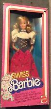 Swiss Barbie Doll of the World DOTW Switzerland NRFB Collector 1983 Blonde Dress