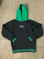 Supreme Adult Mens Large Classic Logo Two Tone Hoodie Black Green