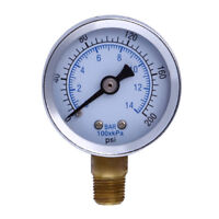 "1/8"" NPT 1.5"" Air Face Compressor Hydraulic Pressure Gauge Side Mount 0-200 PSI"