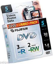 2 5PKS FUJI MINI DVD-R 4PCS/DVD-RW 6 PCS IN MINI CASE CAMCORDER DISCS #25302434