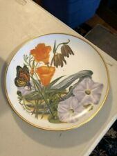 Franklin Porceliain Plate California Wildflowers Bavarian Porcelain 8""