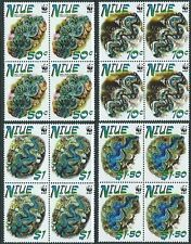 NIUE 2002 WWF Clams set blocks of 4 MNH....................................62408