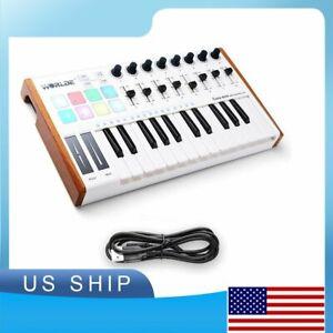 Worlde 25 Key USB Portable Tuna Mini MIDI Keyboard MIDI Controller with 8 Knobs