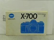 Minolta X-700 Original Instruction Manua
