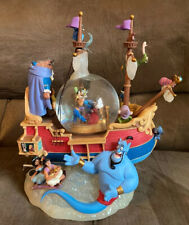 "Official Disney Aladdin Musical Snowglobe! ""A Whole New World"" Beauty & Beast"