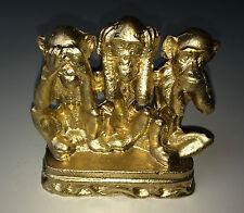 3 Affen Figuren Dreiaffen12 x11x4 cm Kunststein Affe nicht sehen, hören ,sagen G