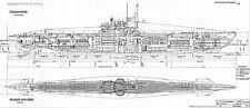 U-BOAT TYPE VIIC GERMAN SUBMARINE DETAILED PLAN  KRIEGSMARINE UNTERSEEBOOT 1938