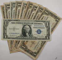 Lot of 10 Old 1935 One $1 Dollar Bill Silver Certificates VG-VF Vintage US Notes
