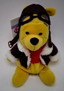 """Disney Winnie L'Ourson Pilote Peluche Bonnet Jouet 8 """""""
