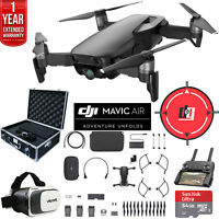 DJI Mavic Air Fly More Combo Onyx Black Drone Deluxe Fly With Warranty Extension