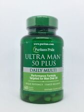 Puritan's Pride Ultra Man 50 Plus Daily Multi 60 Caplets. Exp: 01/23. New Sealed