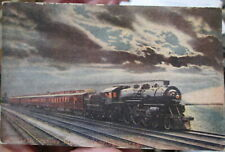 c1915 Twentieth Century Limited railroad train leaving Chicago postcard view