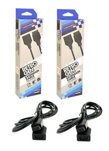 Set of 2 New RetroGEN 6 ft SEGA Genesis Controller Extension Cables by Retro-Bit