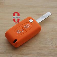 Orange silicone car key cover for Peugeot 206 208 207 3008 308 RCZ 508 408 2008