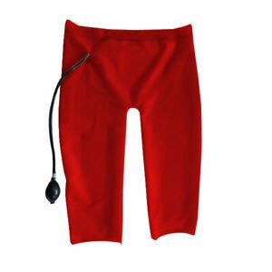 Rubber Gummi Latex  Rote kurze Hose feste Größe Herrengröße Party handgemacht
