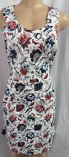 """ANN TAYLOR"" WHITE & MULTI FLORAL PRINT CAREER COCKTAIL DRESS SIZE: 10 NWT $120"