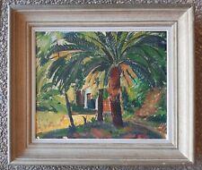 Mieczyslaw LURCZYNSKI (1908-1992) - ancien tableau fauviste - Paysage du sud