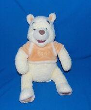 "14"" Disney Store Winnie the Pooh Bean Bag bottom Yellow Cozy Stuffed Plush Bear"