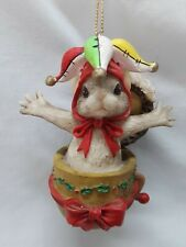"""Charming Tails Christmas """"MacKenzie Jack in the Box"""" Ornament Artist Den Griff"""