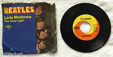 """Beatles Lady Madonna The Inner Light 7"""" 45 RPM Capitol Records 2138 Fab Four Hit"""