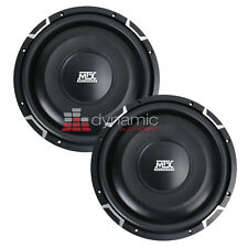 "2 MTX FPR10-02 Car 10"" Flat Piston Shallow Subs SVC 2 Ohm Subwoofers 1,200W New"