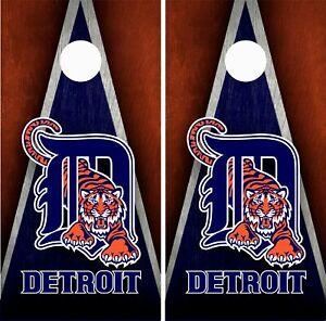 Detroit Tigers Cornhole Wrap Skin Board MLB Sports Vinyl Decal GC02