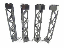 Lego 4 x Support 2 x 2 x 10 Girder Black- Pillar / Support