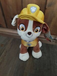 "Paw Patrol Rubble Stuffed 12"" Plush Toy Nickelodeon Brand New Genuine UK Seller"