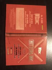 2013 Troy Glauss Tim Salmon auto autograph hitters ink booklet 29/99
