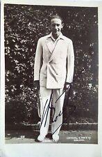 Jean Borotra 1924 Wimbledon Champion vintage signé Tennis carte postale