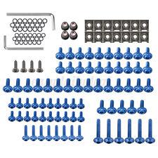 137tlg Motorrad Verkleidungsschrauben M5 M6 Clips Klemmen Set Aluminium Blau