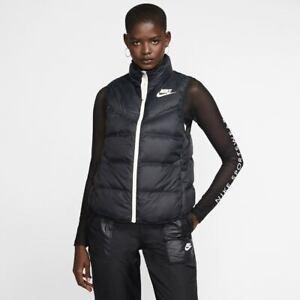 NIKE NSW Sportswear Women's Gilet Windrunner Vest Down Fill Reversible Warm Zip