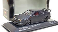 1:43 Minichamps Kyosho Alfa Romeo 155 V6 TI Homologation in Matt Black Diecast