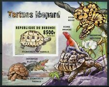 More details for burundi 2014 mnh fauna turtles leopard tortoise 1v impf s/s reptiles stamps