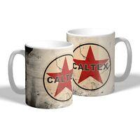 Caltex Mug Vintage Oil Can Effect Car Mechanic Tea Coffee Mug Gift