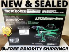 Metabo HPT 18V Cordless Hammer Drill + Impact Driver Combo Kit w/ Bag (KC18DGLS)