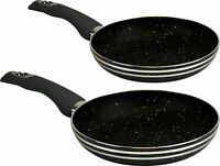(High Quality) - (Set Of 2) - (20cm & 28cm) Non Stick Combo Frying / Cooking Pan