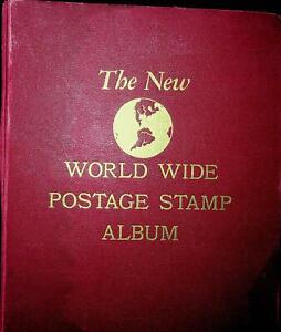 New Worldwide Postage Stamp Album w/1000+ stamps