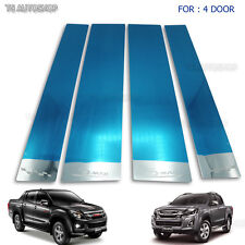 Chrome Stainless Steel 4Dr Pillar Window For Isuzu D-Max Holden 4x4 2012-2018
